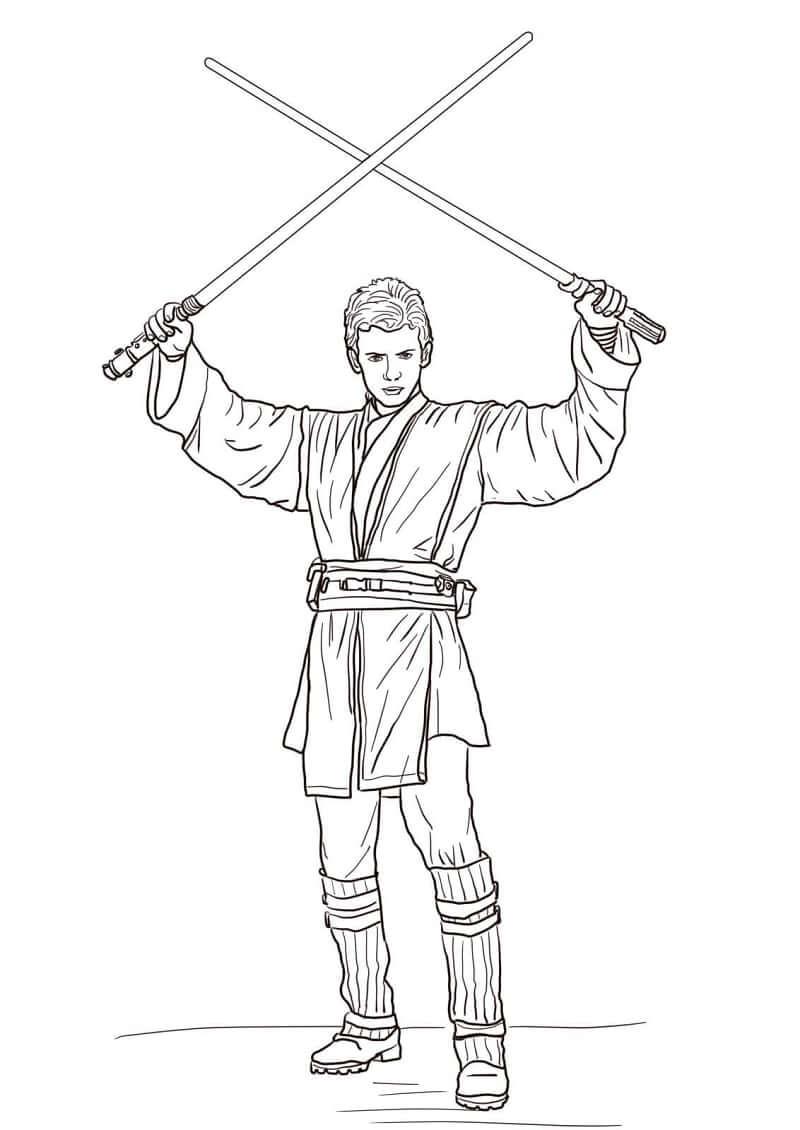 Desenhos de Anakin Skywalker do Guerra nas Estrelas para colorir
