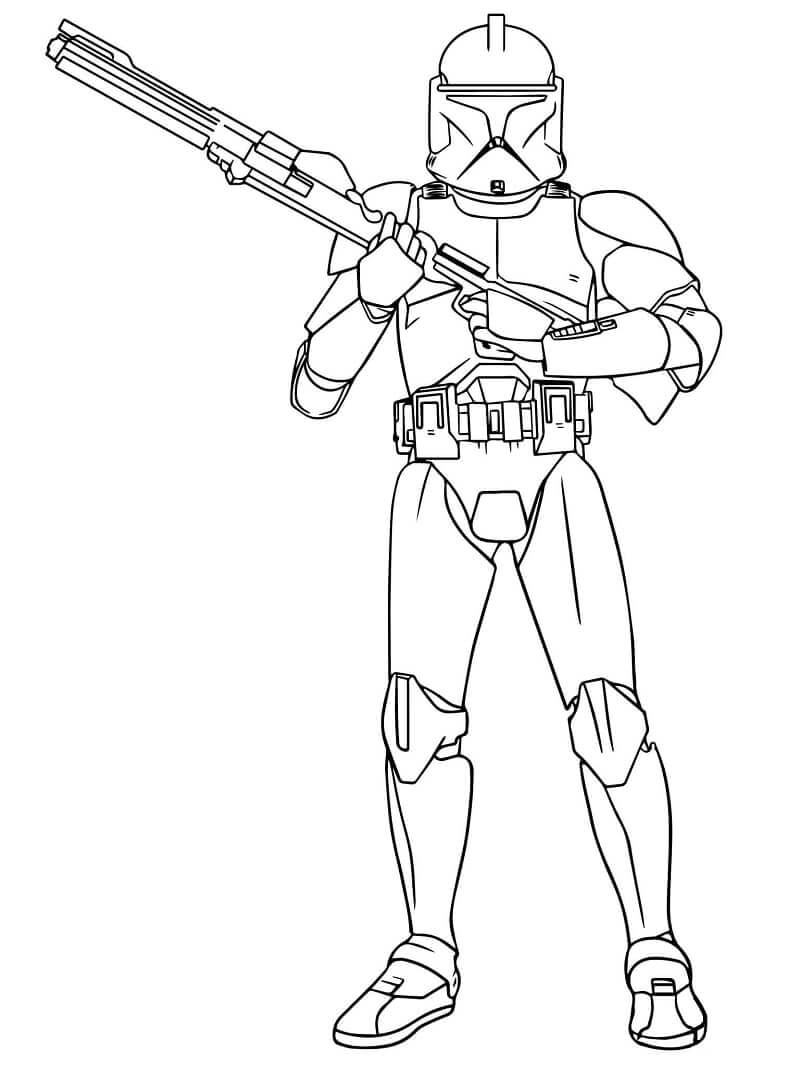 Desenhos de Boba Fett do Guerra nas Estrelas para colorir