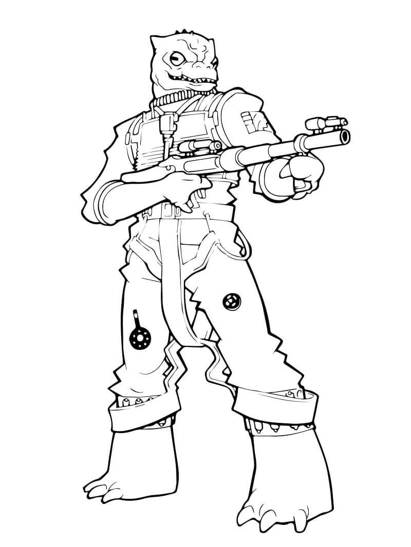 Desenhos de Bossk do Guerra nas Estrelas para colorir