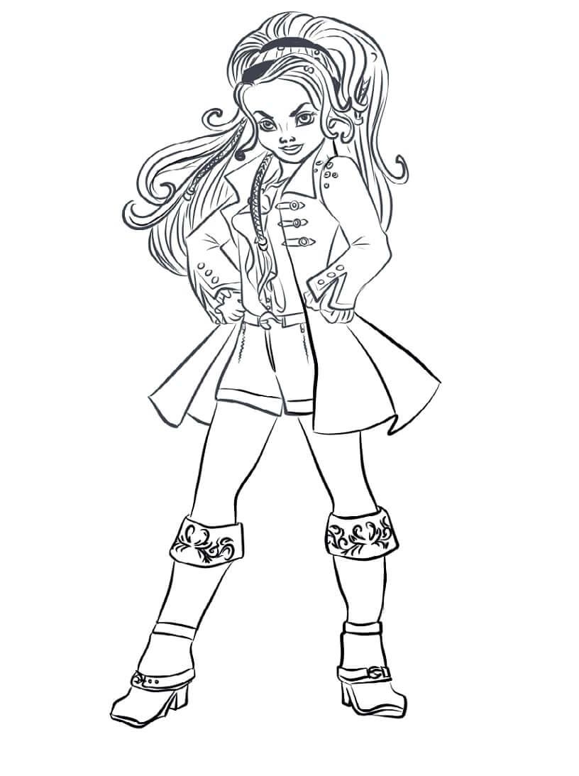 Desenhos de CJ Hook Descendentes para colorir