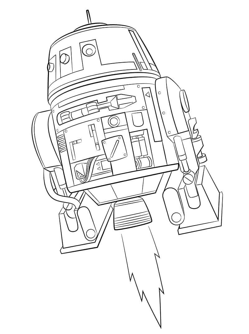 Desenhos de Chopper do Guerra nas Estrelas para colorir