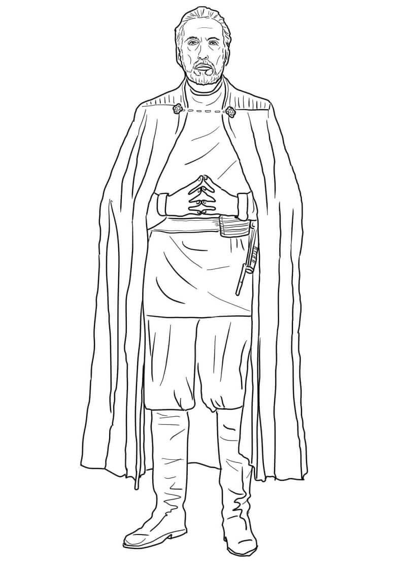 Desenhos de Conde Dooku do Guerra nas Estrelas para colorir