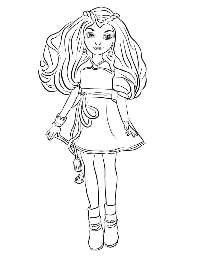 Desenhos de Evie de Descendentes para colorir