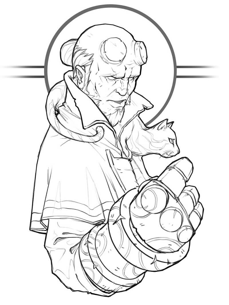 Desenhos de Forte Rapaz do inferno 4 para colorir