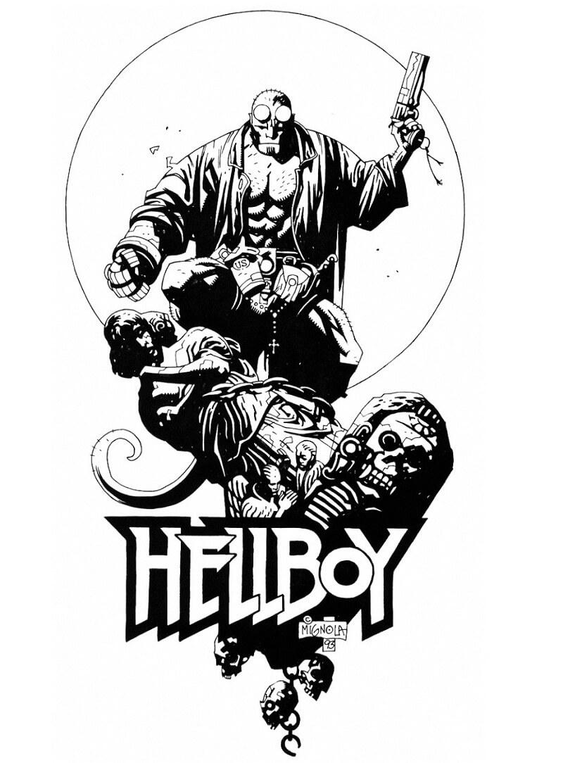 Desenhos de Forte Rapaz do inferno 6 para colorir