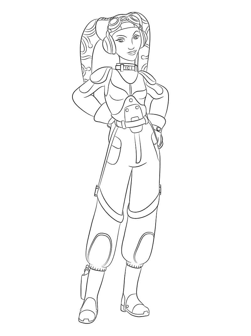 Desenhos de Hera Syndulla da Guerra nas Estrelas para colorir
