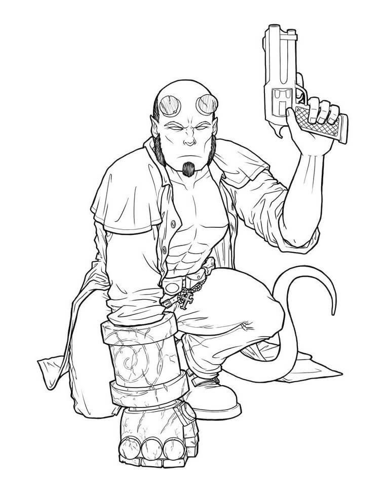 Desenhos de Impressionante Rapaz do inferno 1 para colorir