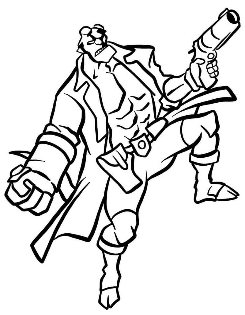 Desenhos de Impressionante Rapaz do inferno 3 para colorir