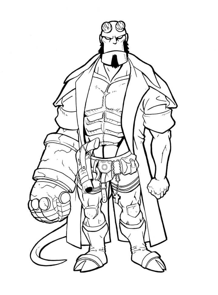 Desenhos de Impressionante Rapaz do inferno 4 para colorir