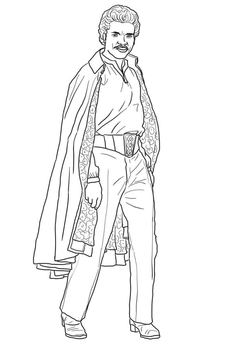 Desenhos de Lando Calrissian do Guerra nas Estrelas para colorir