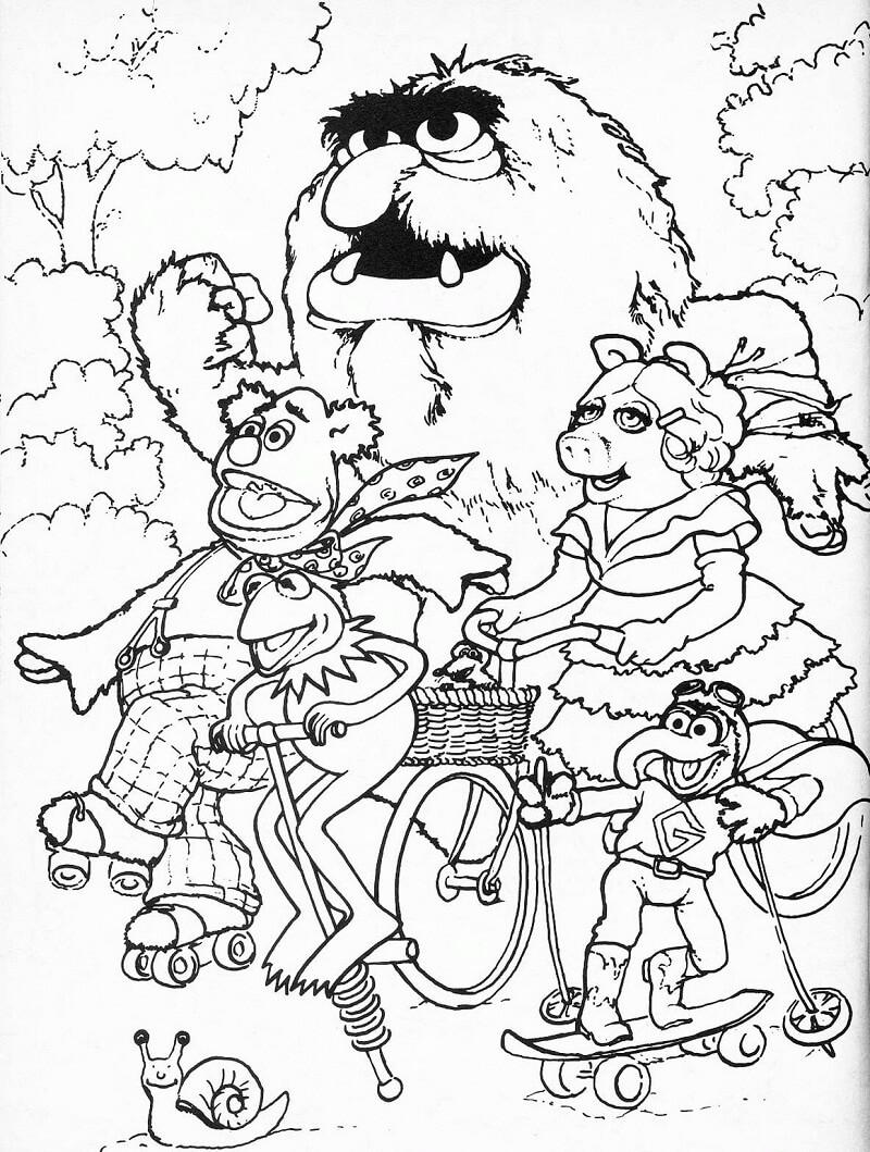 Desenhos de O Show dos Muppets para Colorir
