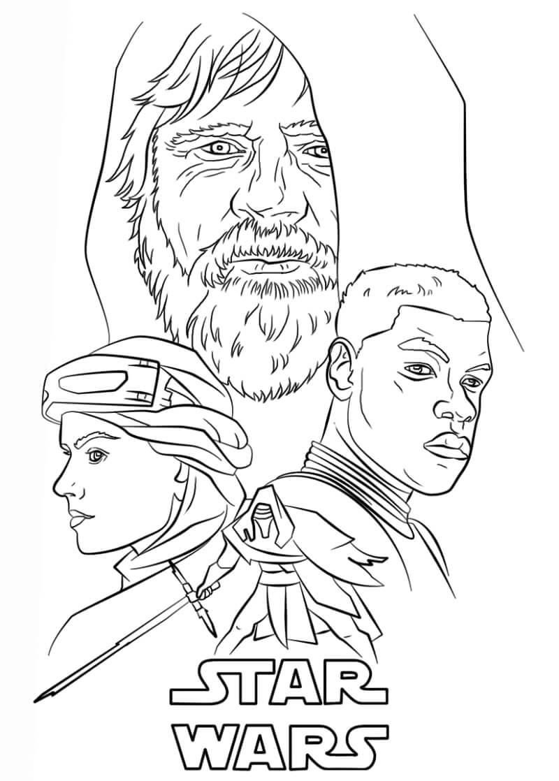 Desenhos de Pôster do guerra nas estrelas para colorir