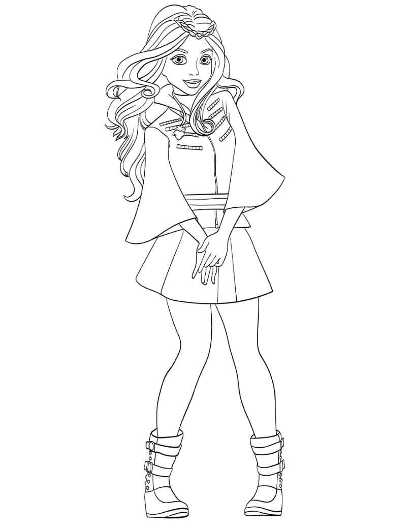 Desenhos de Personagem Descendentes 1 para colorir