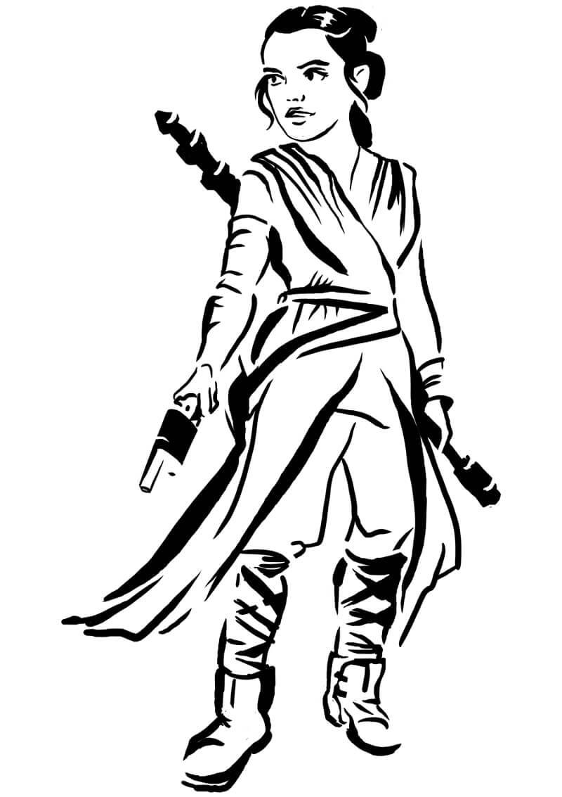 Desenhos de Rey da Guerra nas Estrelas para colorir