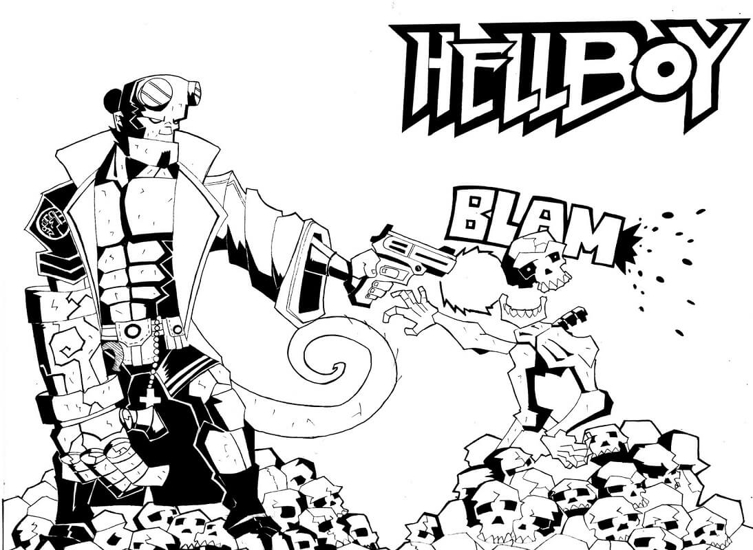 Desenhos de Surpreendente Rapaz do inferno 1 para colorir