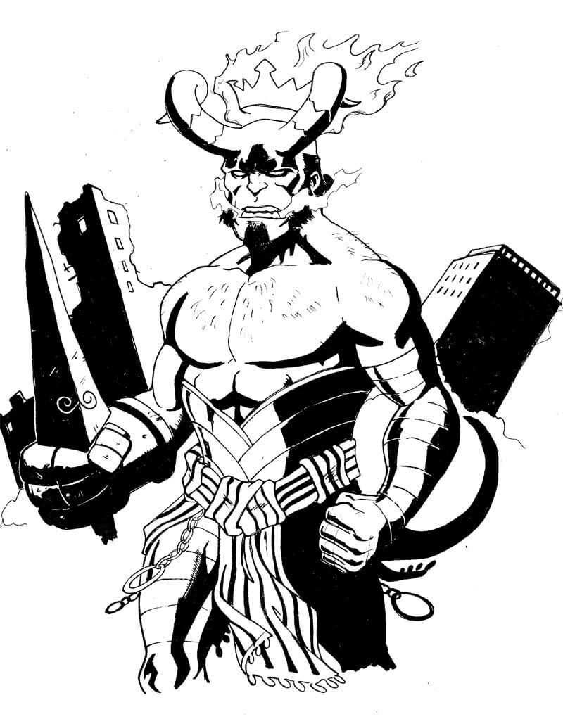 Desenhos de Surpreendente Rapaz do inferno 4 para colorir