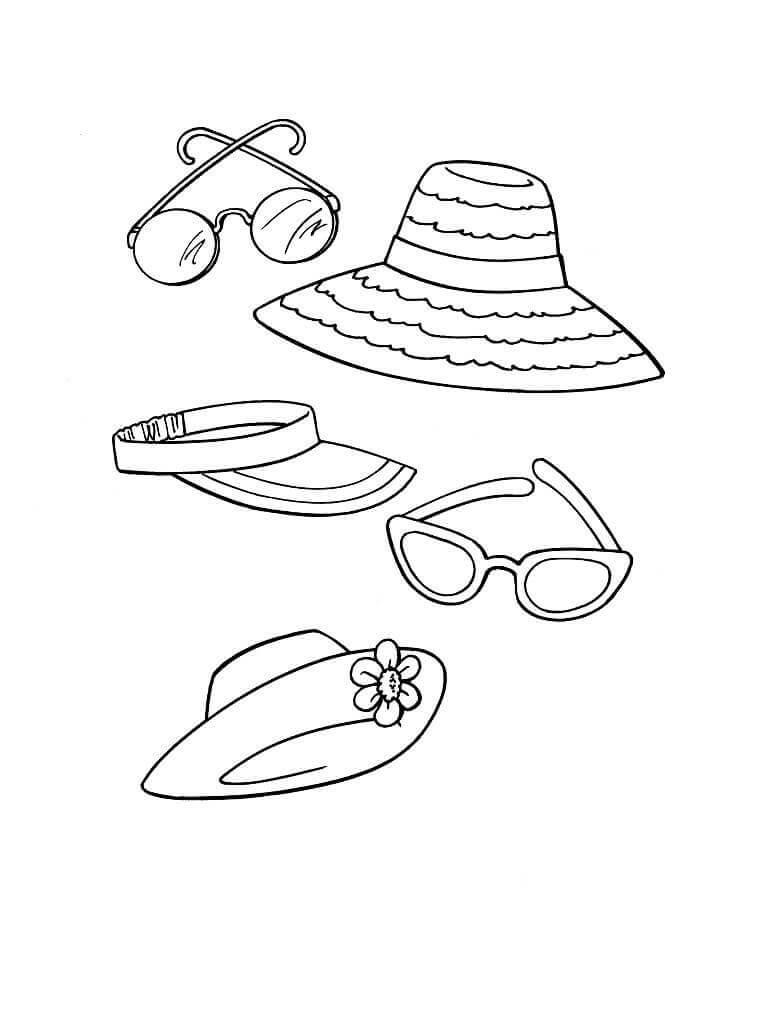 Desenhos de Acessórios de Praia para colorir