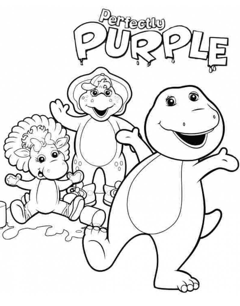 Barney e Seus Amigos para Colorir