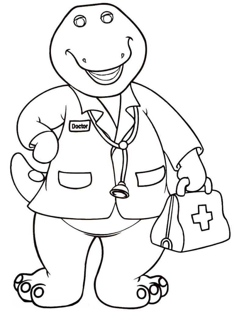 Desenhos de Barney o doutor para colorir