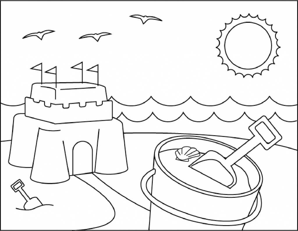 Desenhos de Cena de Praia 9 para colorir