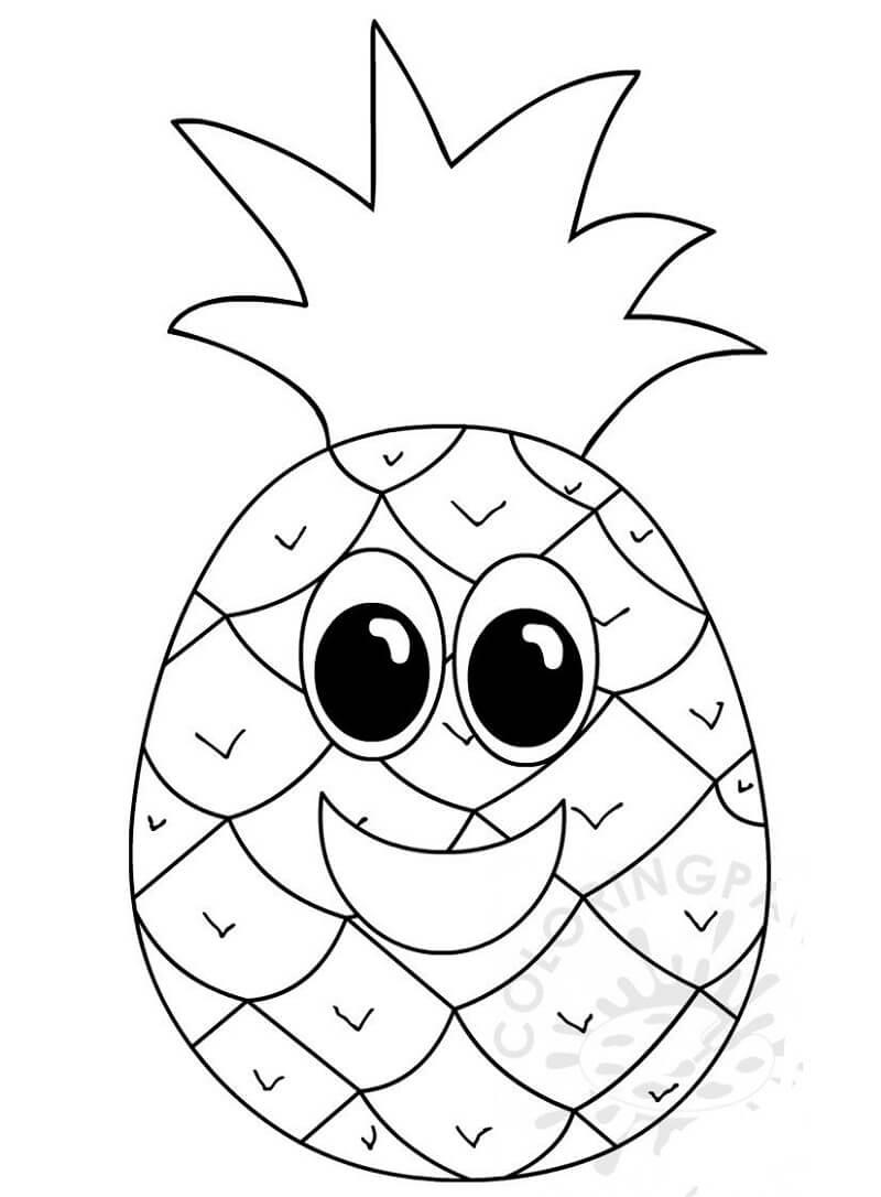 Desenhos de Abacaxi Desenho Animado 1 para colorir