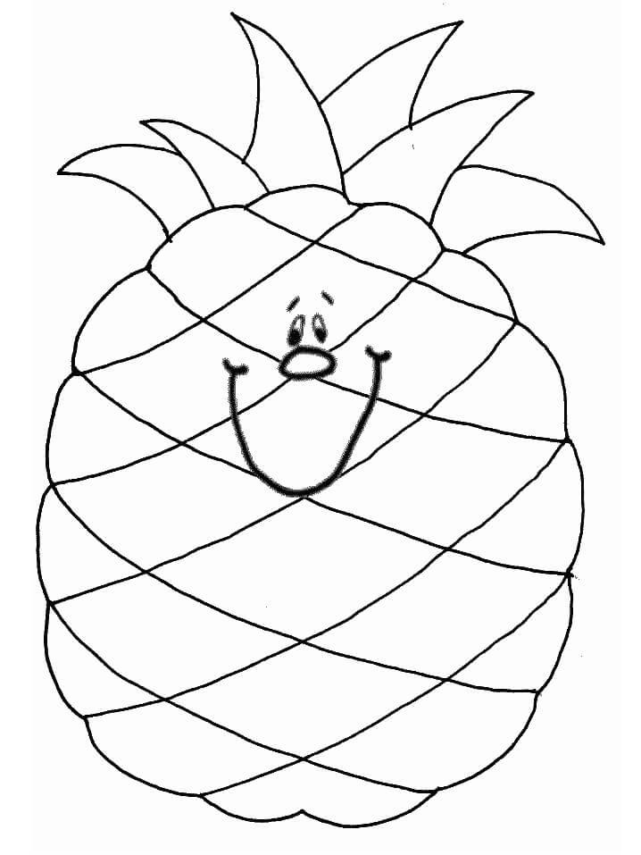 Desenhos de Abacaxi Desenho Animado 2 para colorir