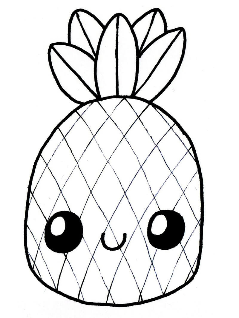 Desenhos de Abacaxi Desenho Animado 3 para colorir