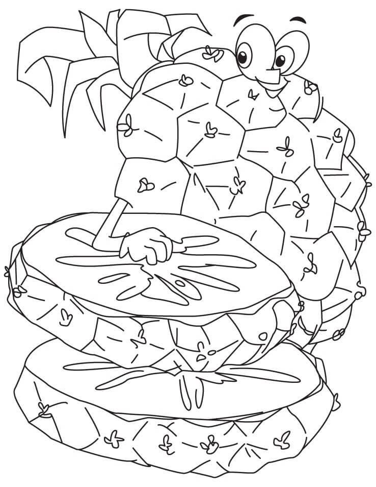 Desenhos de Abacaxi Desenho Animado 4 para colorir