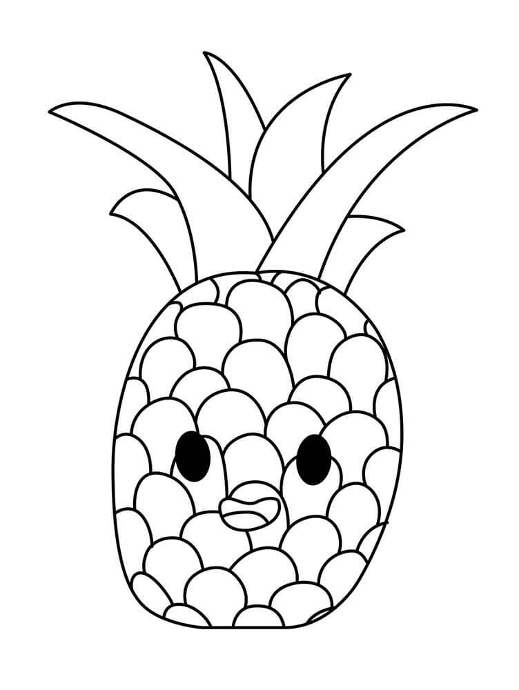 Desenhos de Abacaxi Desenho Animado para colorir