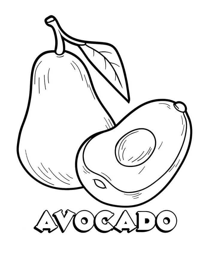 Desenhos de Fruta Abacate 1 para colorir