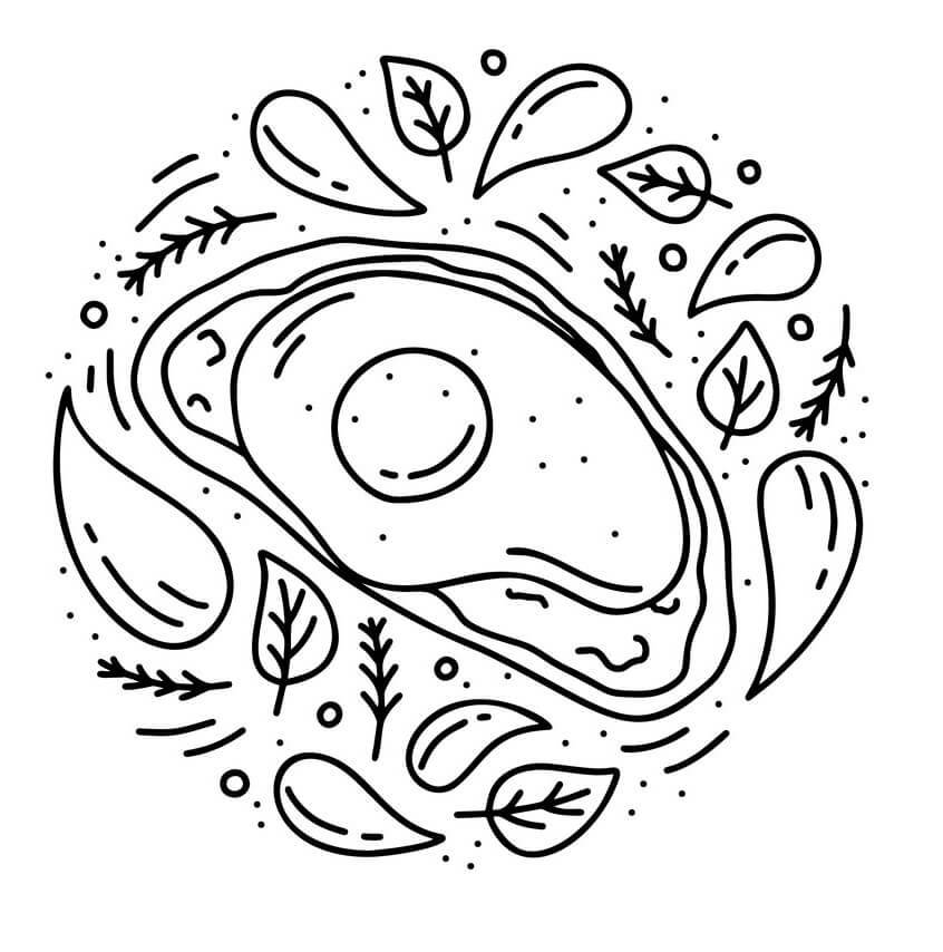 Desenhos de Fruta Abacate 11 para colorir