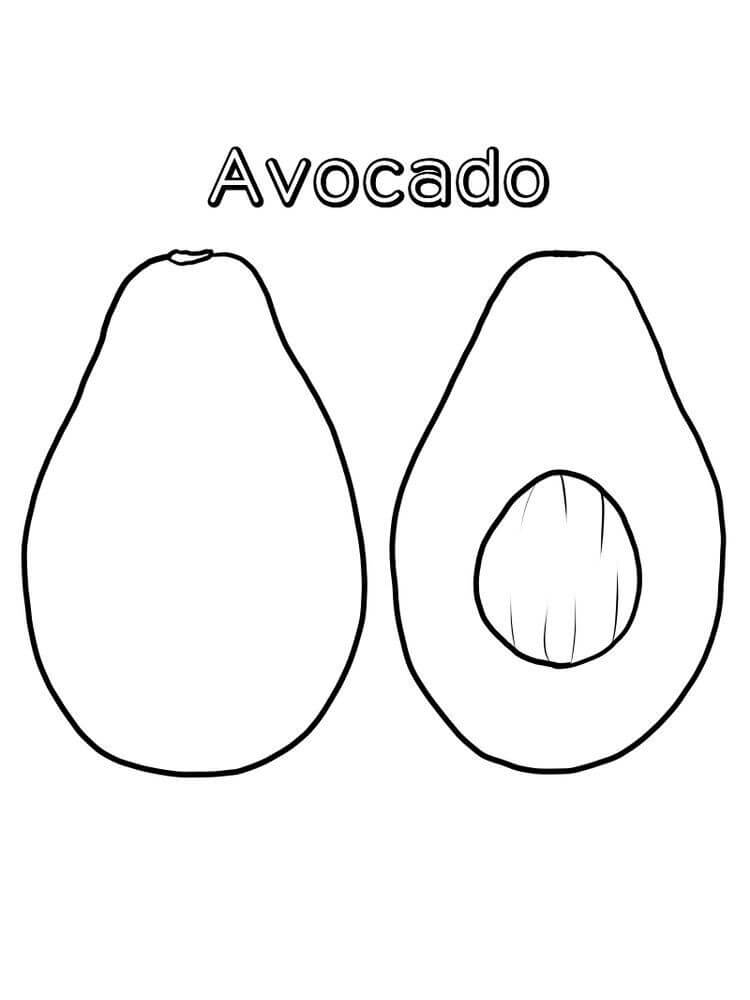 Desenhos de Fruta Abacate 5 para colorir