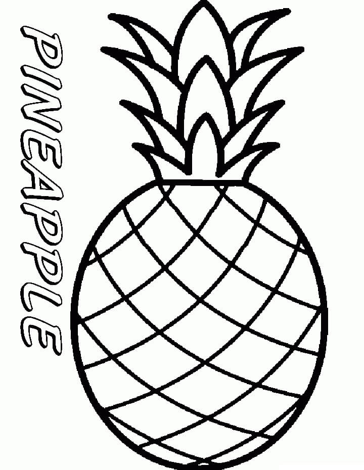 Desenhos de Fruta Abacaxi 13 para colorir