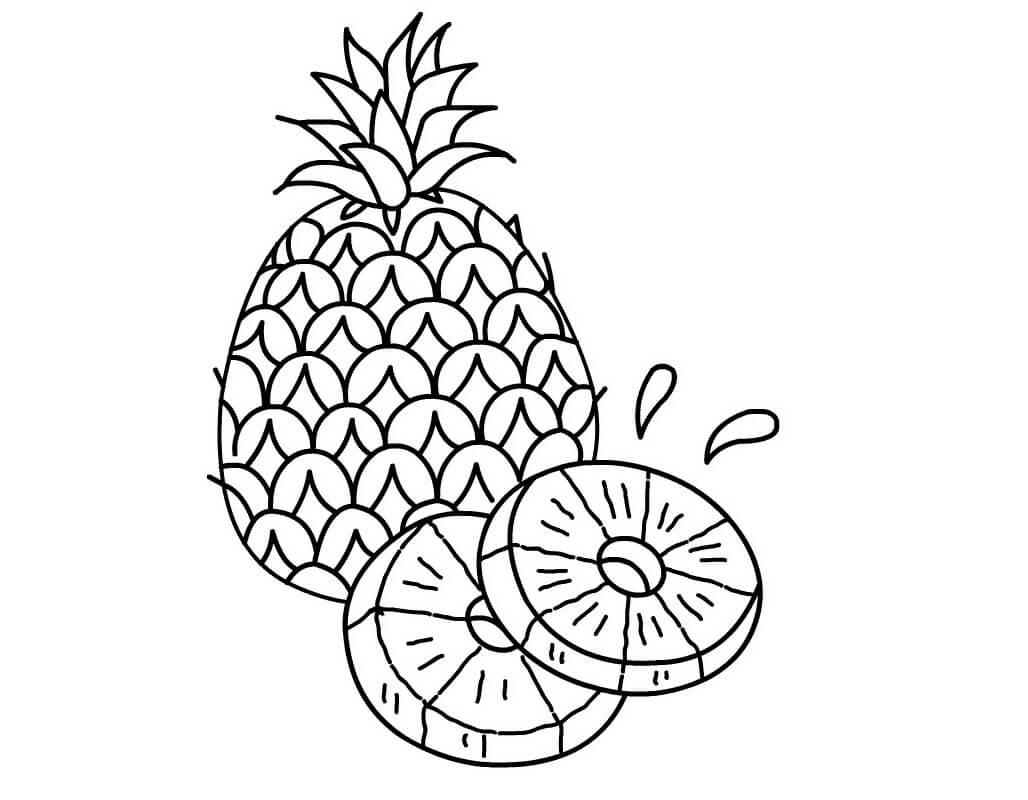 Desenhos de Fruta Abacaxi 8 para colorir