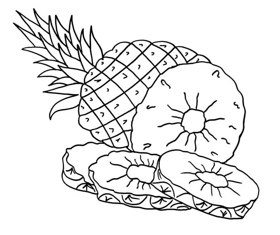 Desenhos de Fruta Abacaxi 9 para colorir