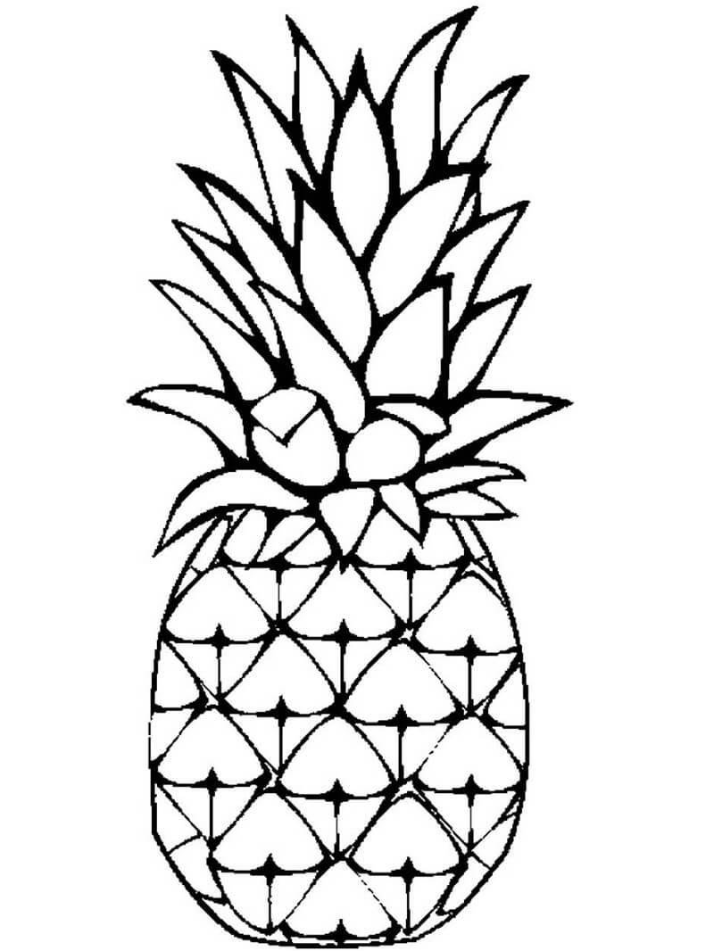 Desenhos de Fruta Abacaxi para colorir