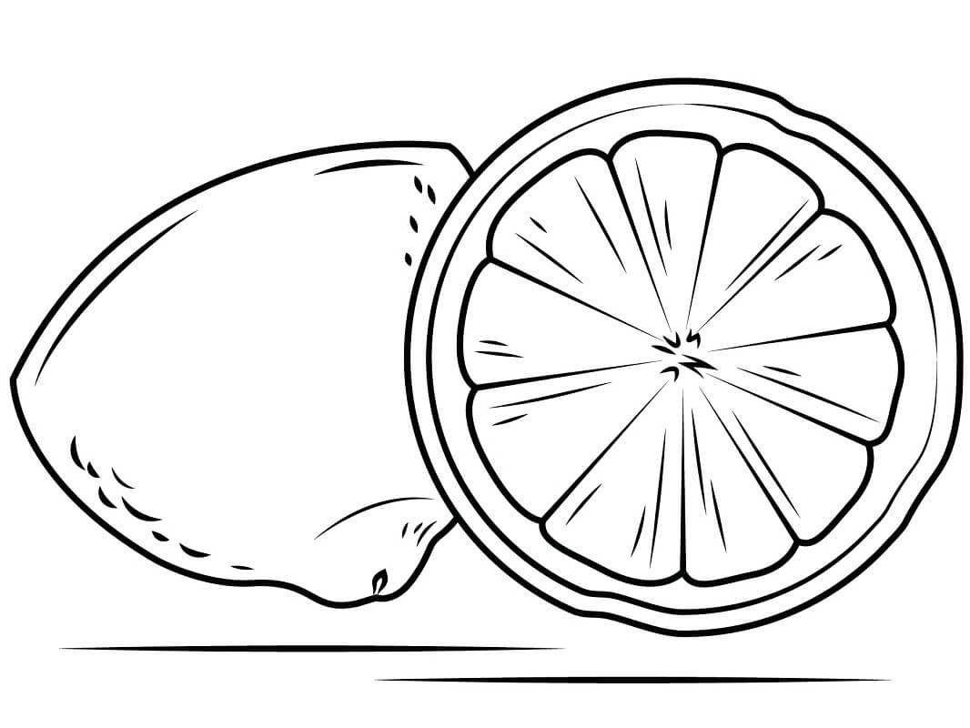 Desenhos de Fruta Limão 2 para colorir