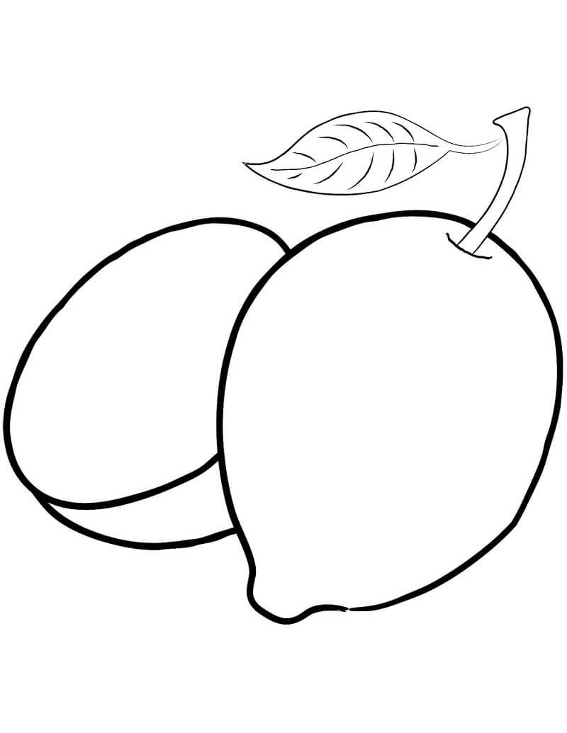 Desenhos de Fruta Limão 3 para colorir
