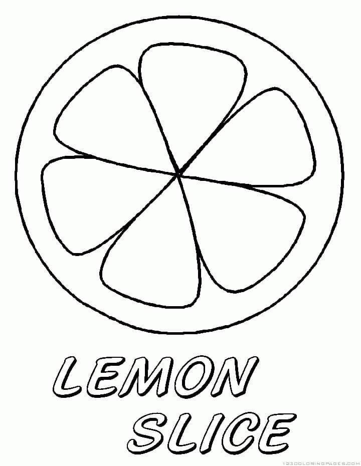 Desenhos de Fruta Limão 8 para colorir