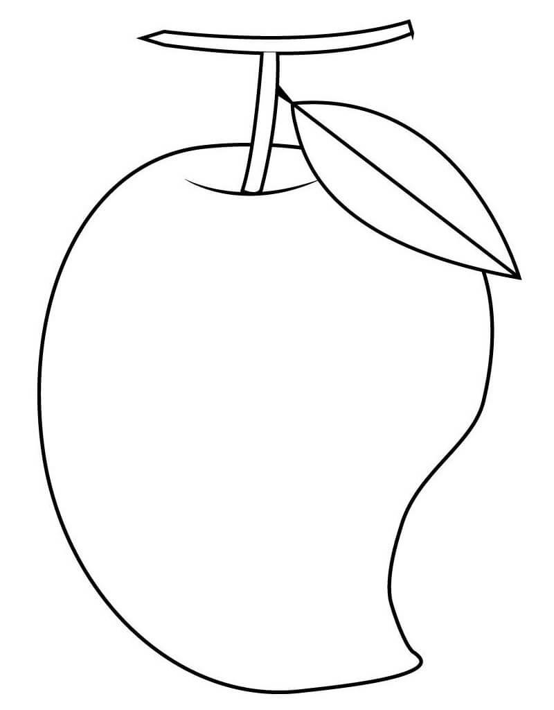 Desenhos de Fruta Manga 1 para colorir