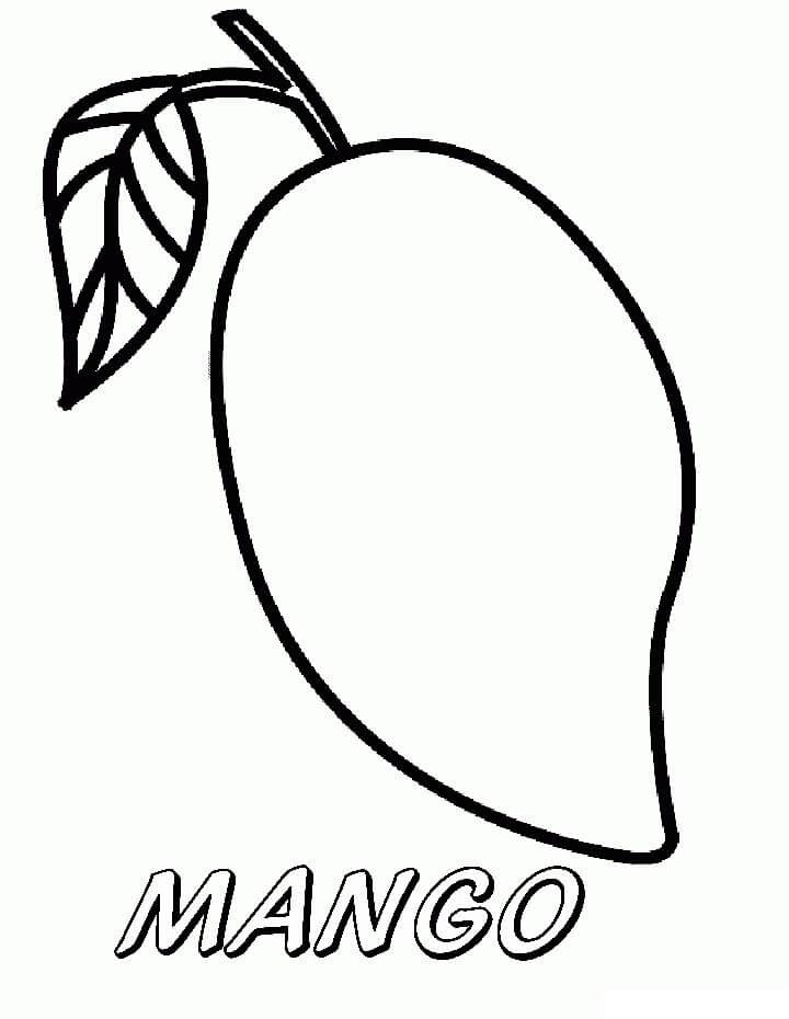 Desenhos de Fruta Manga para colorir
