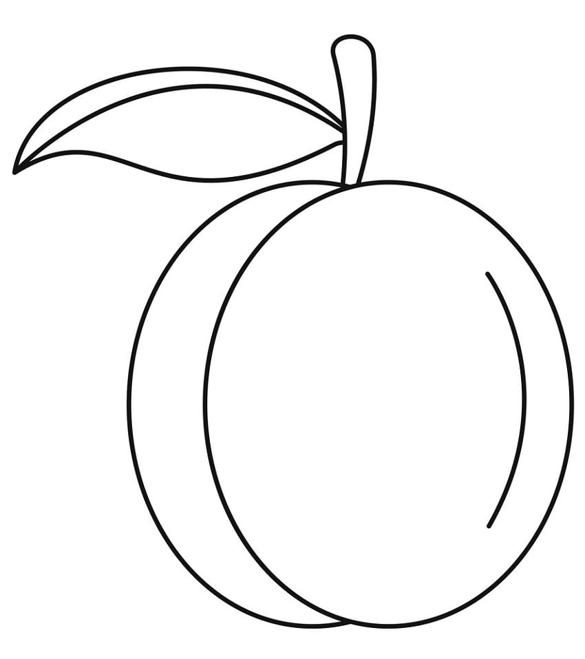 Desenhos de Fruta Pêssego 10 para colorir