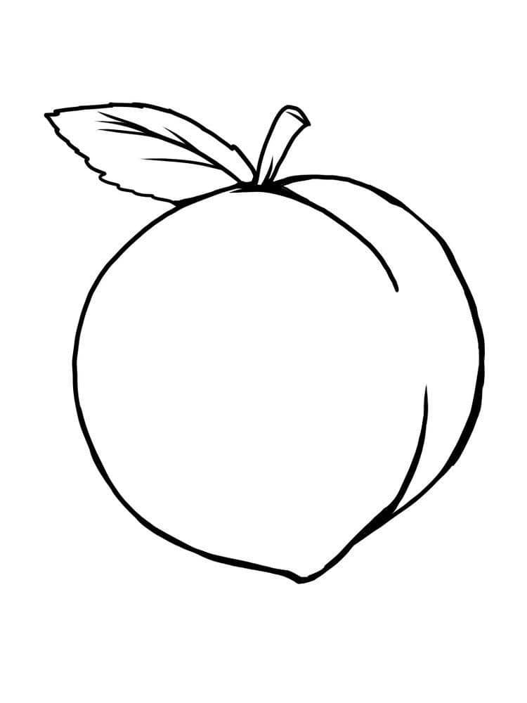 Desenhos de Fruta Pêssego 2 para colorir