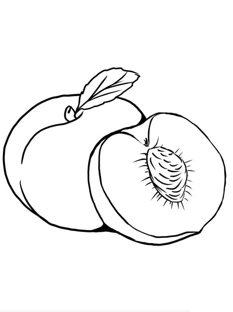Desenhos de Fruta Pêssego 4 para colorir