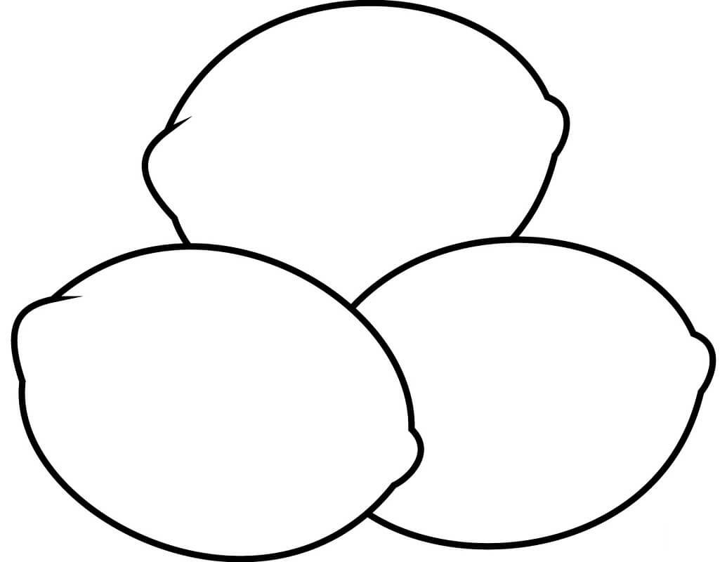 Desenhos de Limões 3 para colorir