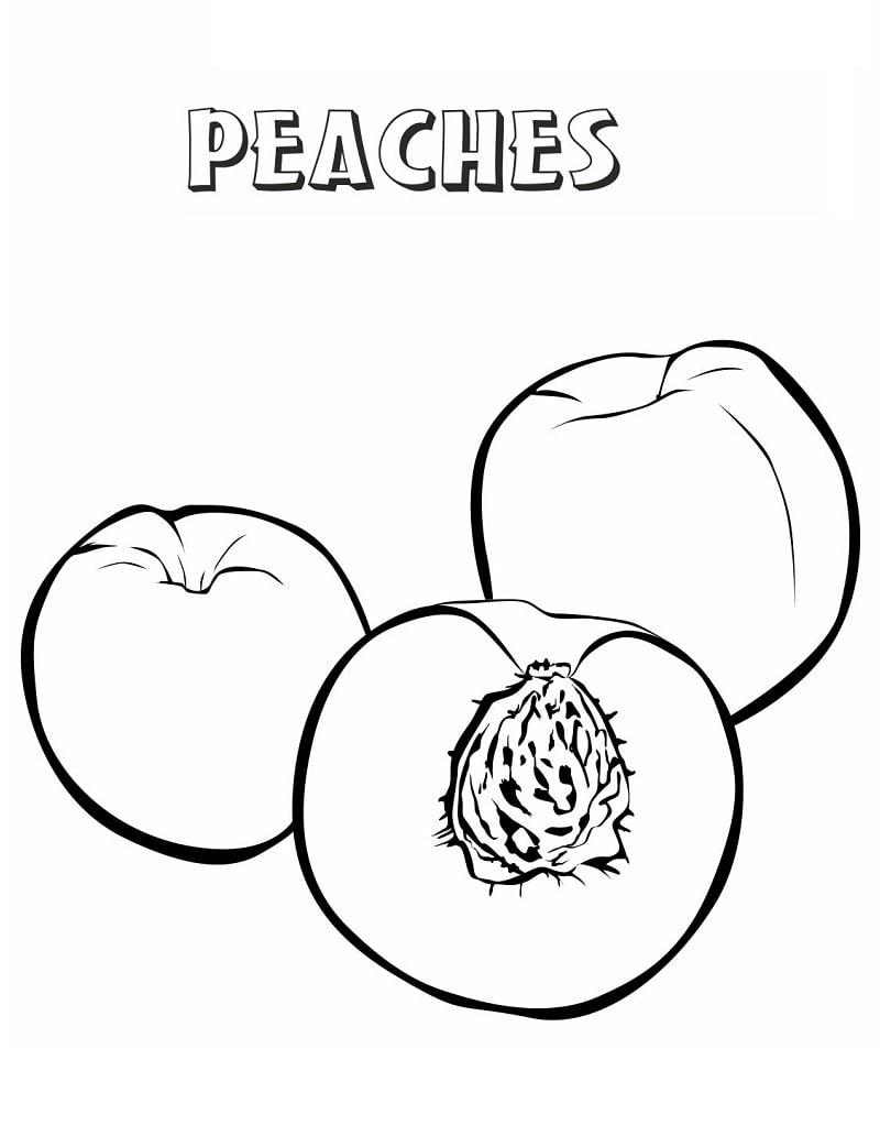 Desenhos de Pêssegos 1 para colorir