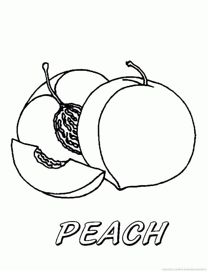 Desenhos de Pêssegos 2 para colorir