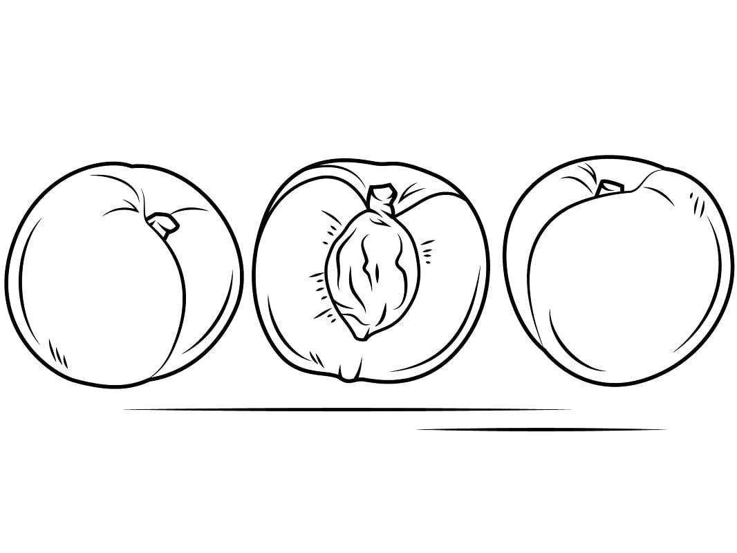 Desenhos de Pêssegos 5 para colorir