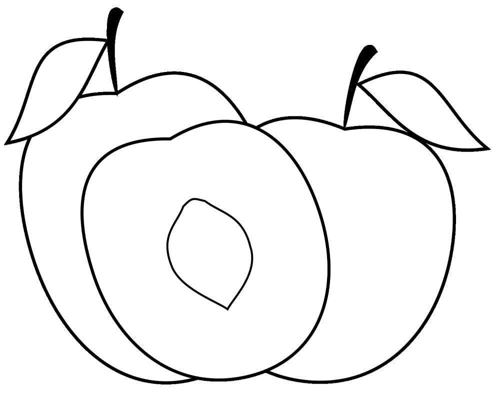 Desenhos de Pêssegos 6 para colorir