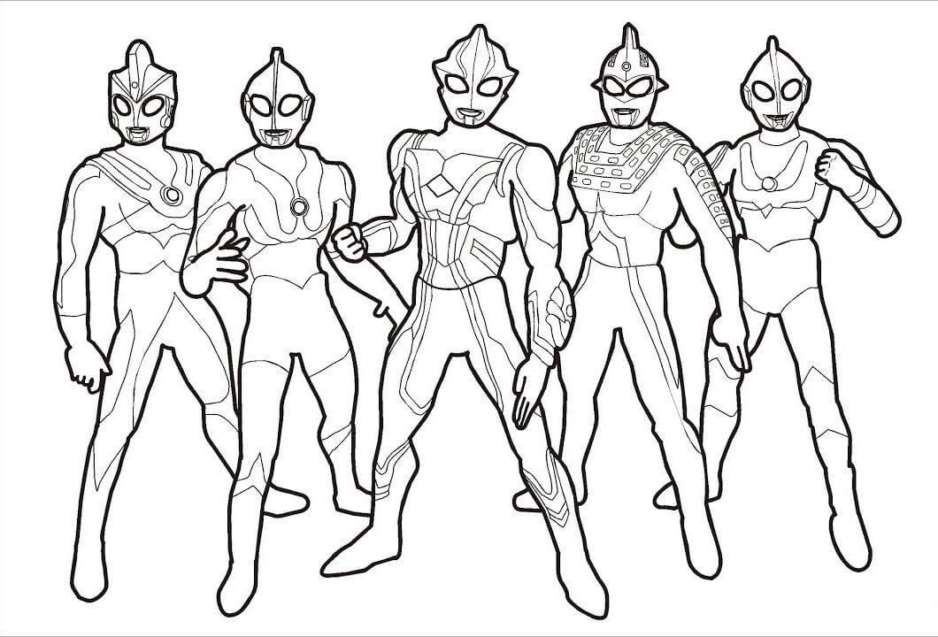 Ultraman para Colorir